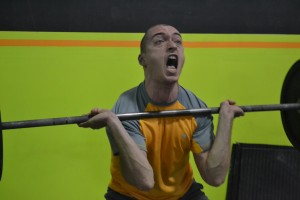 Pure determination!  Mehmet, way to fight for that PR!