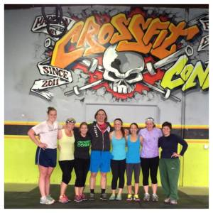 Ladies owning the Halloween WOD with Coach Connor!