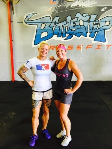 Cherise may be on vacation but that doesn't mean she isn't getting her badass into a gym. Her and 15th Place CrossFit Games Masters Competitor Eberle Funches comparing biceps at Battleship CrossFit in Panama City Beach, Florida.